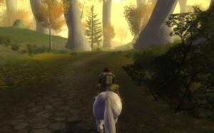 Riding through Lórien
