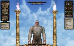 Male character creation