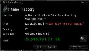 Nano-Factory sale